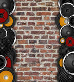 Speakers On Vertical Wall Stock Images