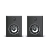 Speakers  on white. Background, vector illustration for you Stock Image