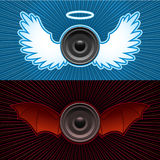 Speakers with wings Stock Photography