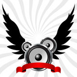 Speakers with wings Stock Images