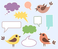 Speaking birds Royalty Free Stock Photo