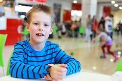 Speaking boy Royalty Free Stock Images