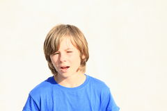 Speaking boy Stock Images
