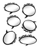 Speaking bubble rings Stock Photography