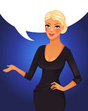Speaking business woman Royalty Free Stock Photos
