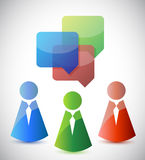 Speaking and communication icons Royalty Free Stock Photos