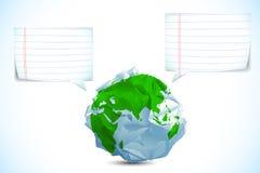 Speaking Earth Stock Photo