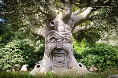 Fairytale tree in theme park De Efteling in The Netherlands stock images