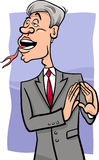 Speaking with forked tongue cartoon Stock Photos