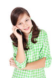 Speaking girl Stock Image