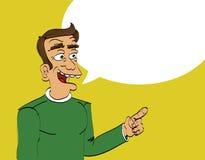 Speaking man Stock Image