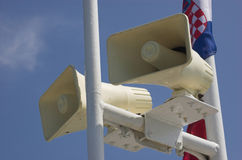 Speaking megaphones Stock Image