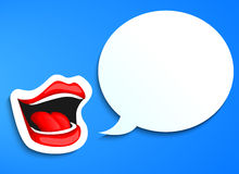 Speaking mouth Royalty Free Stock Images