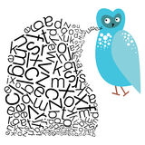 The Speaking Owl. An abstract illustration on extending the boundaries of Education Stock Photo