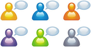 Speaking people vector icons Royalty Free Stock Photography