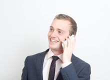 Speaking on phone Royalty Free Stock Photos
