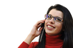 Speaking on the phone Royalty Free Stock Image