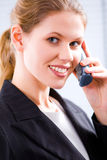 Speaking on the phone Stock Images
