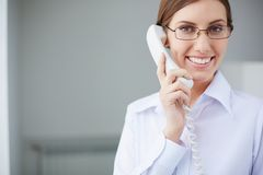 Speaking by the phone Stock Image