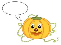 Speaking pumpkin Royalty Free Stock Image