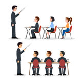 Speaking to the audience flat style. Royalty Free Stock Photos