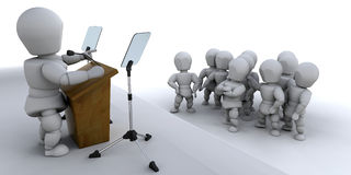 Speaking to a crowd. Someone speaking to a crowd vector illustration