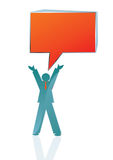 Speaking to the masses. Conceptual Business icon of man speaking to the masses, vector illustration Stock Image