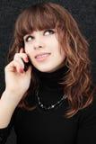 Speaks on telephone Royalty Free Stock Photos
