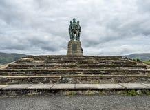 Spean-Brücke, Schottland - 31. Mai 2017: Ein Denkmal, das den Männern der britischen Kommando-Kräfte eingeweiht wurde, hob währen stockfotografie