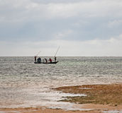 Spear Fishing in Mombassa, Kenya Royalty Free Stock Photography