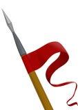 Spear met een vlag Stock Foto