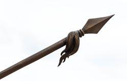 Spear op Witte Achtergrond Stock Foto