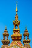 Top of the gate in temple Chiangrai Thailand royalty free stock image