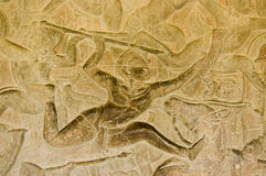 Spear thrower bas relief Royalty Free Stock Image