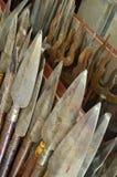 Spear in weapon room. Long spear in weapon room Royalty Free Stock Photo
