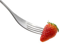 Speared strawberry Royalty Free Stock Photo