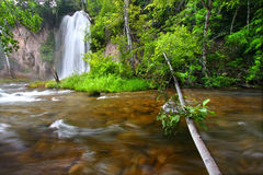 Spearfish Falls of the Black Hills Royalty Free Stock Photos