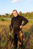 Spearfisher royaltyfria bilder