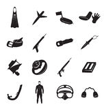 Spearfishing. The figure shows the equipment for spearfishing Royalty Free Stock Image