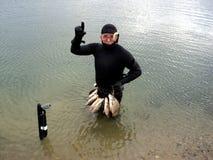 spearfishing foto de archivo