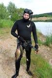 spearfishing immagine stock