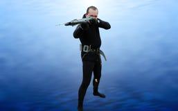 spearfishing fotografia stock libera da diritti