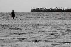 Spearfishing in Aitutaki Lagoon Cook Islands Royalty Free Stock Image