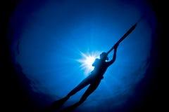 Spearfishing in Australien Lizenzfreies Stockfoto