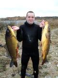 Spearfishing. stock photo