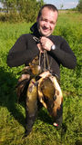 Spearfishing. royalty free stock image