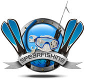 Spearfishing - Metal Icon Stock Images