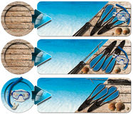 Spearfishing Three Banners - N2 Stock Image