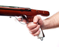 Speargun trigger Stock Photo