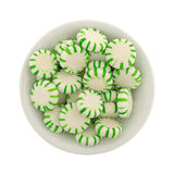 Spearmint starlight mints in a small bowl Stock Images